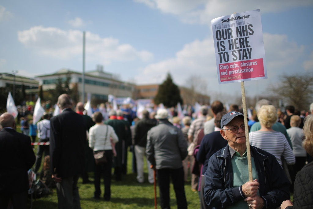 Thousands Of Demonstrators March Through Stafford To Save Stafford Hospital F... 35396