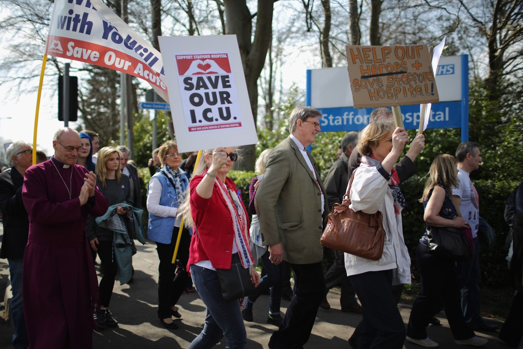 Thousands Of Demonstrators March Through Stafford To Save Stafford Hospital F... 35399