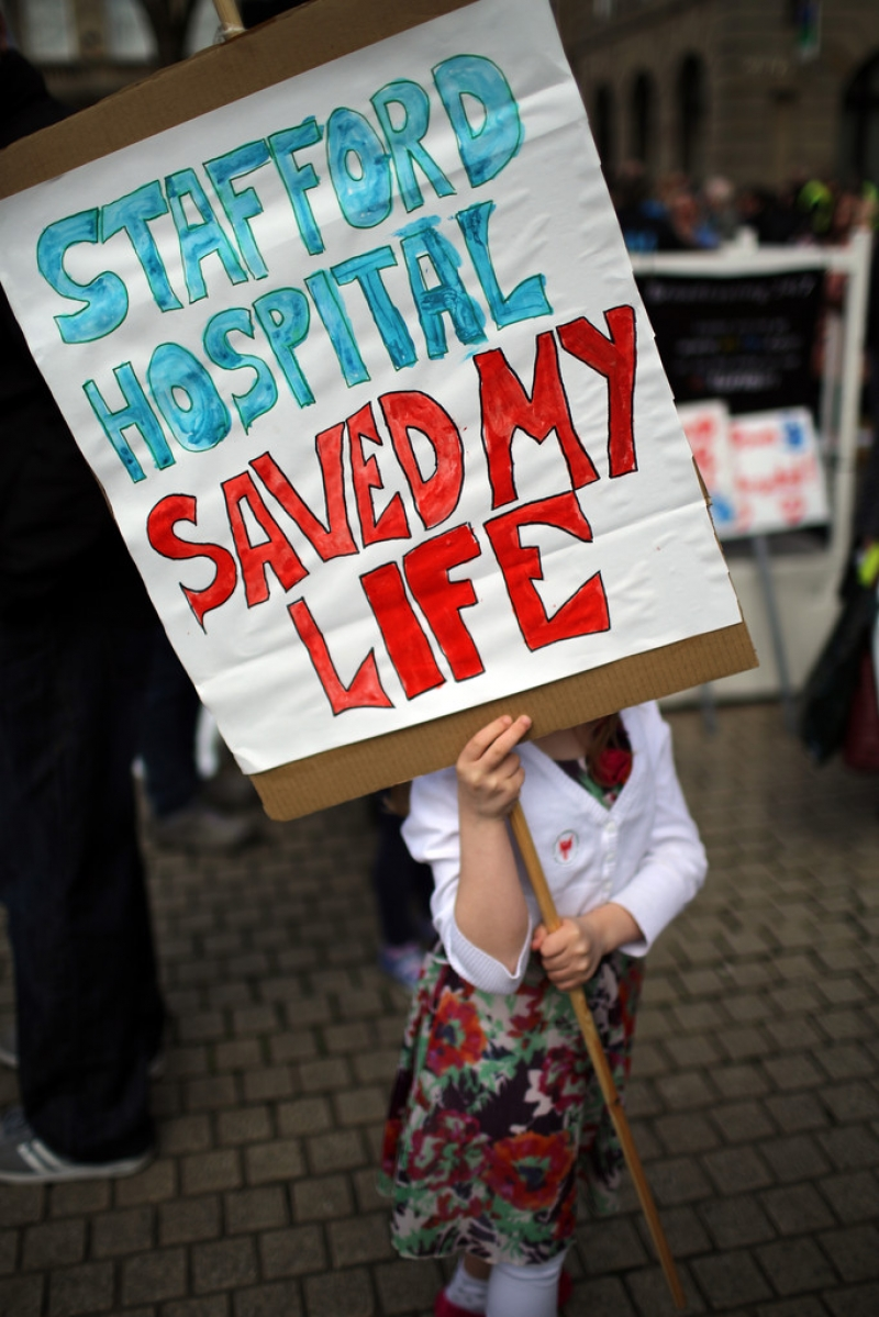 Thousands Of Demonstrators March Through Stafford To Save Stafford Hospital F... 35401