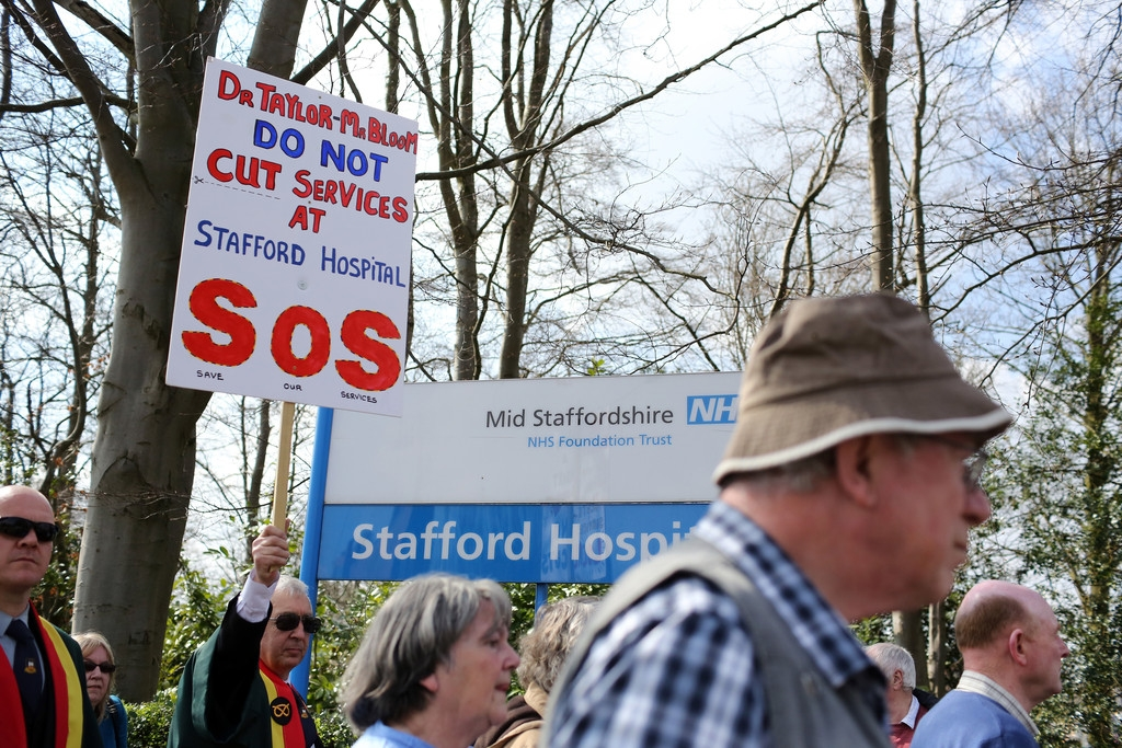 Thousands Of Demonstrators March Through Stafford To Save Stafford Hospital F... 35435