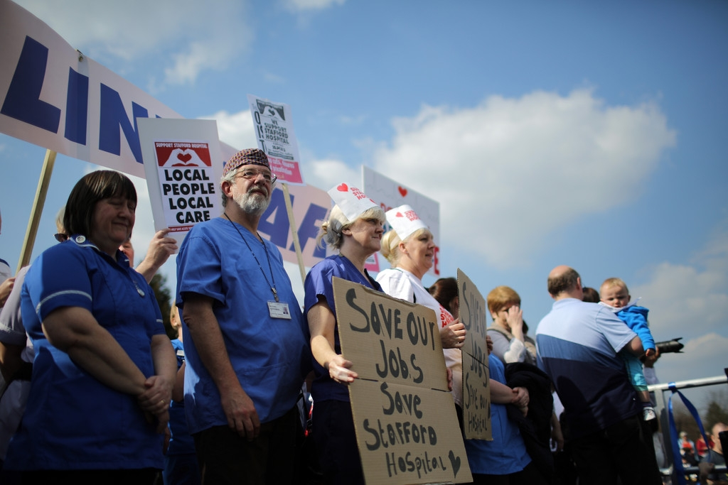 Thousands Of Demonstrators March Through Stafford To Save Stafford Hospital F... 35447