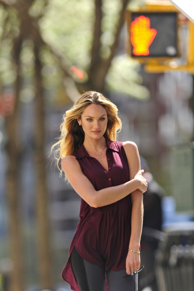 Candice Swanepoel Poses in NYC 35756