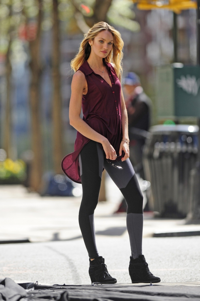Candice Swanepoel Poses in NYC 35776