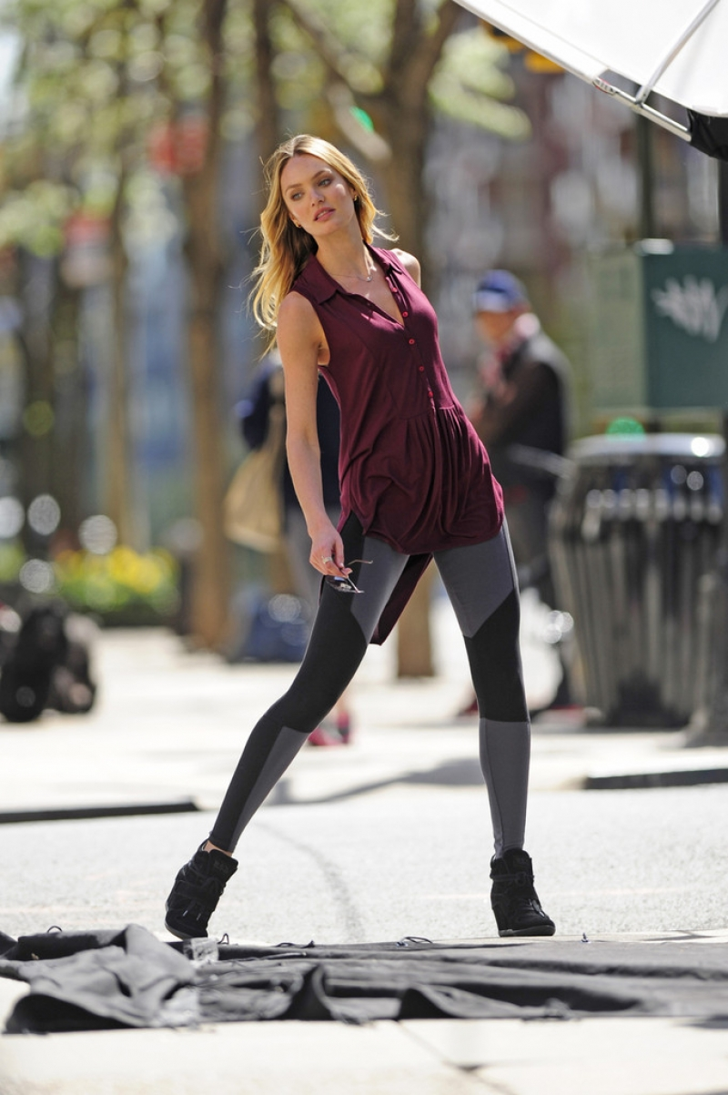 Candice Swanepoel Poses in NYC 35793