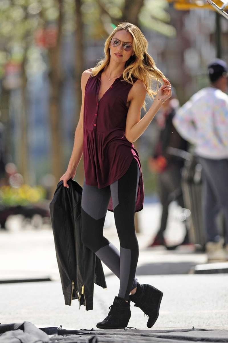 Candice Swanepoel Poses in NYC 35806