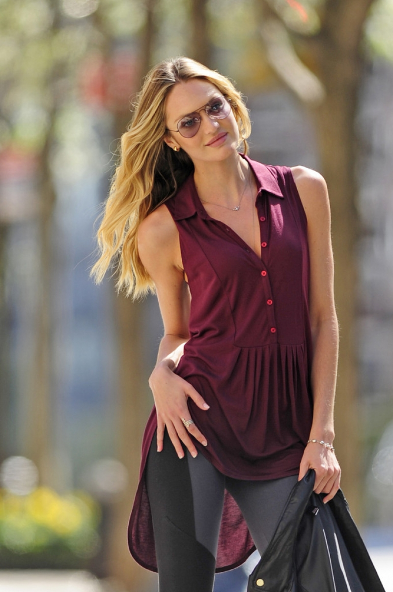 Candice Swanepoel Poses in NYC 35818