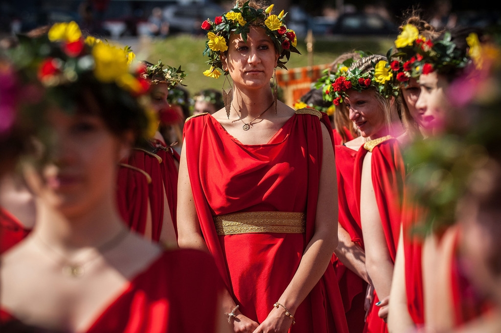Romans Celebrate the 2,766th Anniversary of Their City 37556