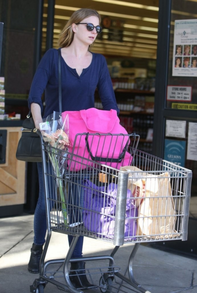 Emily Van Camp Shops at Gelson's 38459