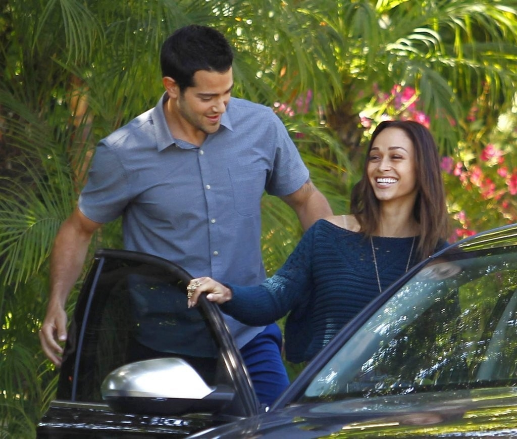 Jesse Metcalfe & Cara Santana All Smiles In Beverly Hills 38476