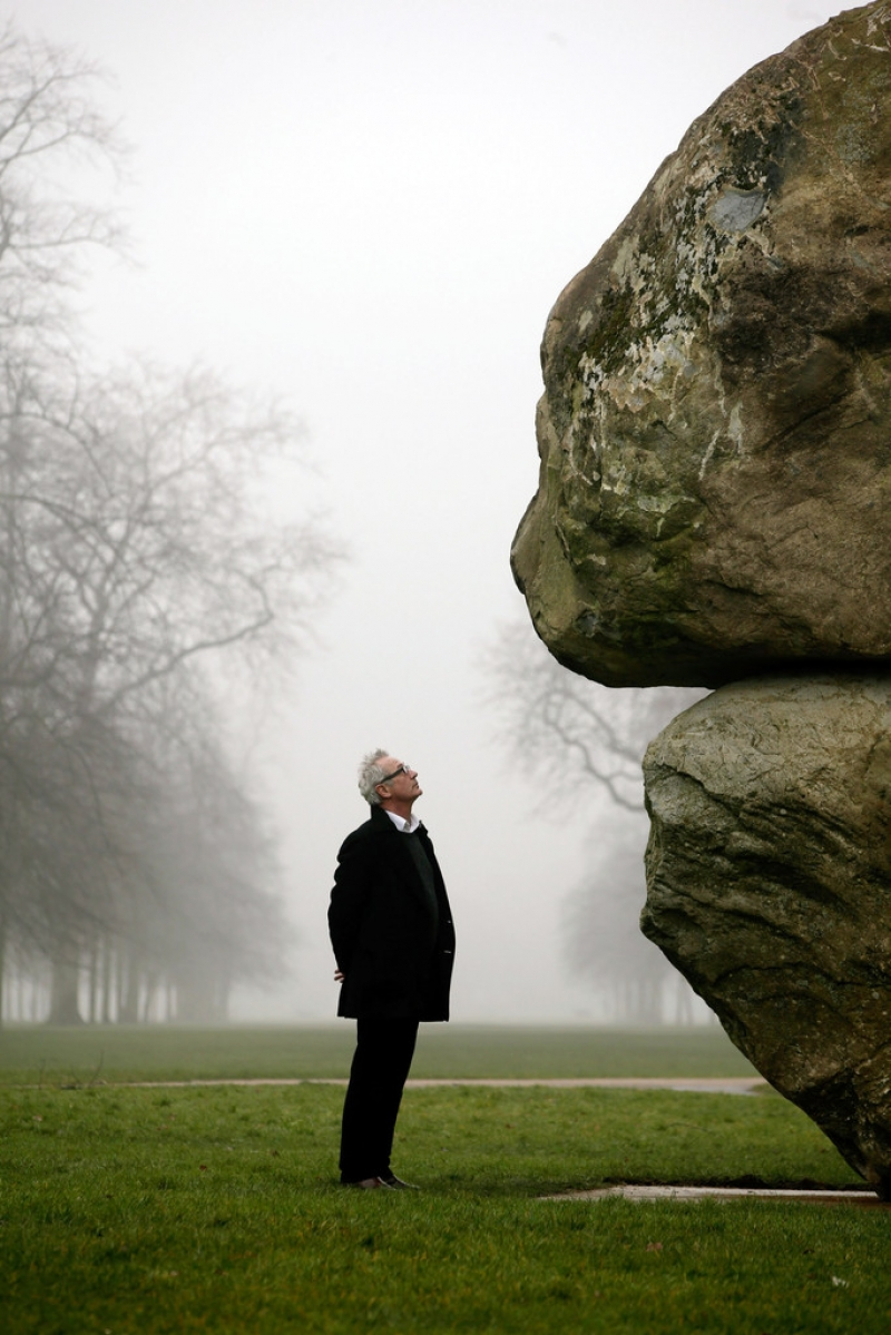 Weiss And Fleishi's Giant Boulder Installation Is Unveiled Outside The Serpen... 39073