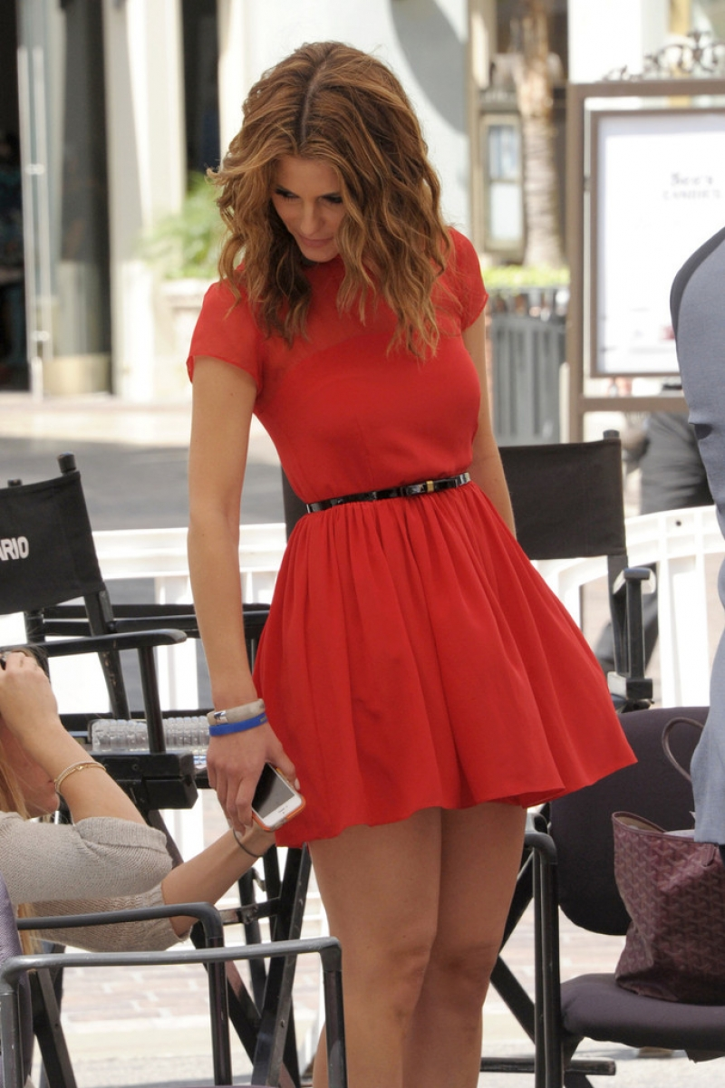 Maria Menounos Films 'Extra' at The Grove 40151