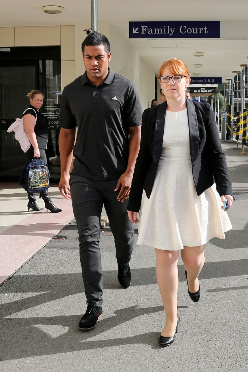 Julian Savea Arrives for Her Court Hearing 41191
