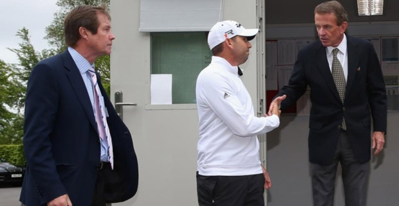 "Spaniard claims he will not face sanctions after the tour Tiger Woods apologized for remarks, Irishman admitted ""something is up 'with management 41197"