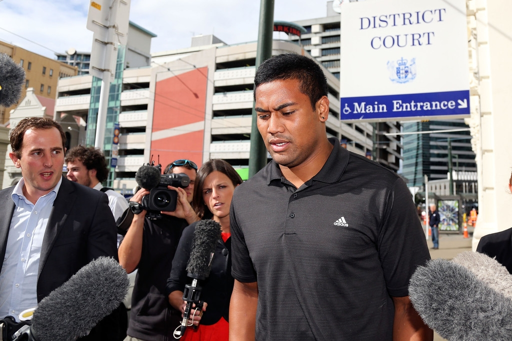 Julian Savea Arrives for Her Court Hearing 41217