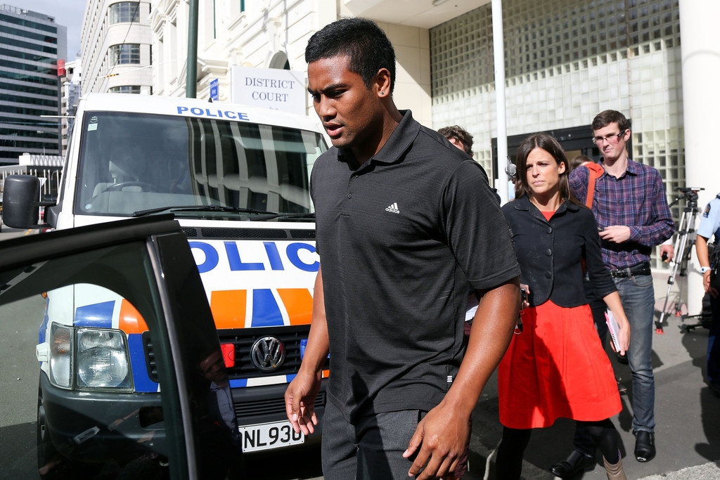 Julian Savea Arrives for Her Court Hearing 41234