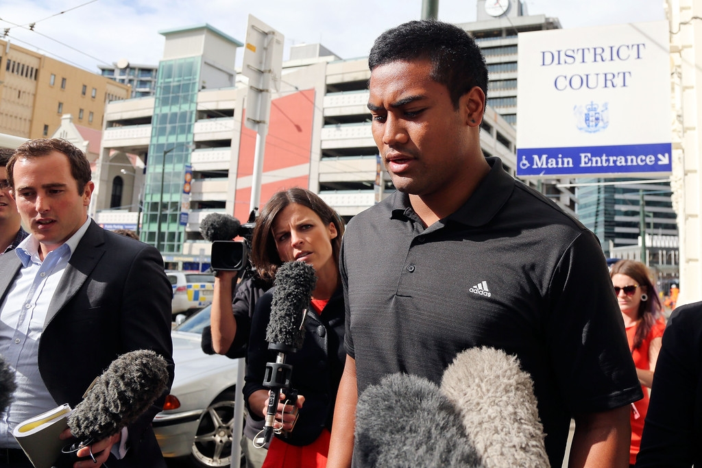 Julian Savea Arrives for Her Court Hearing 41271