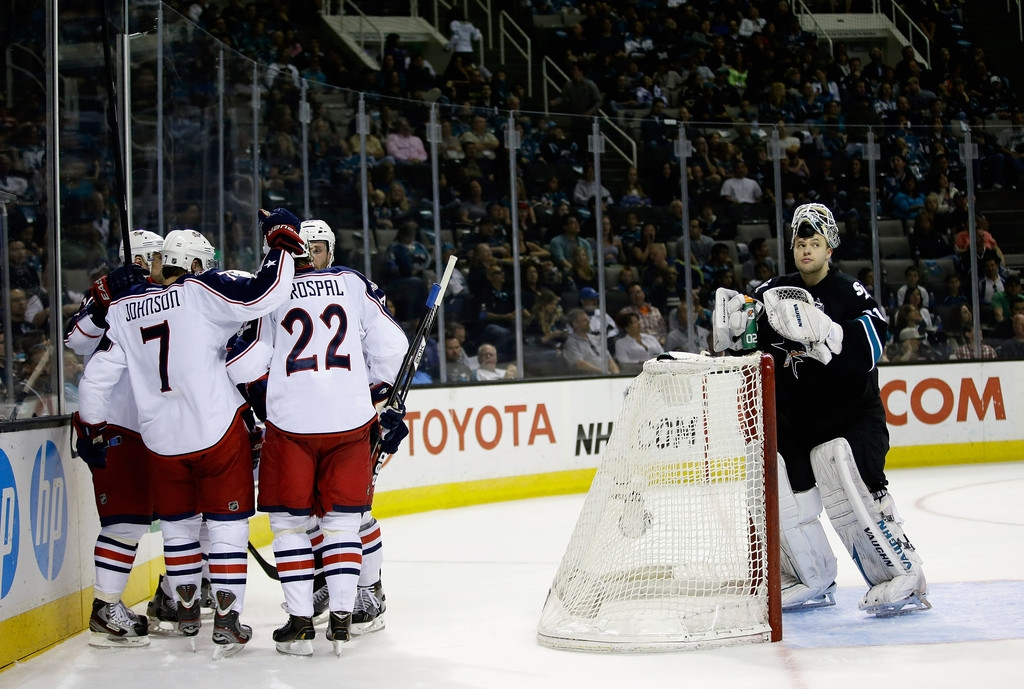 Columbus Blue Jackets v San Jose Sharks 41414