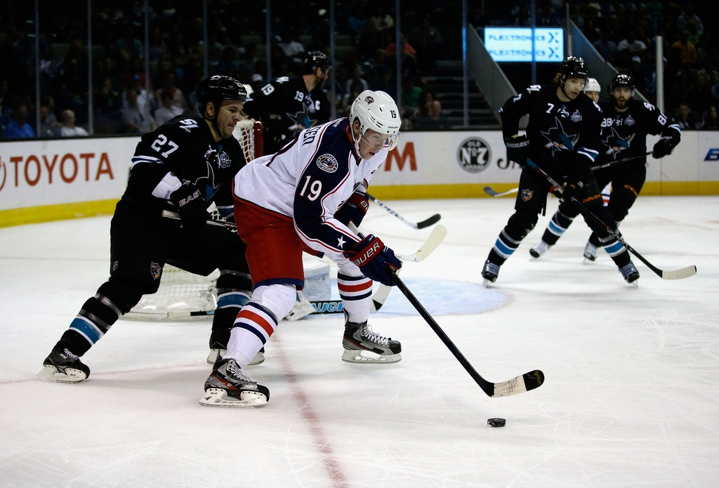 Columbus Blue Jackets v San Jose Sharks 41421