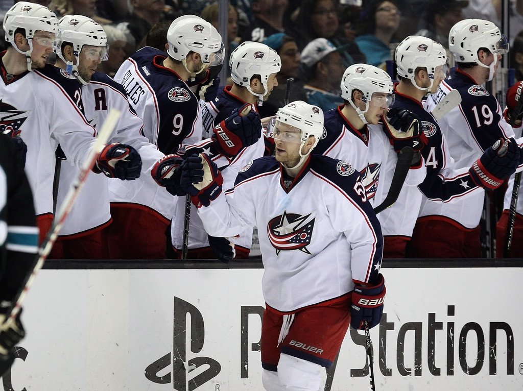 Columbus Blue Jackets v San Jose Sharks 41460
