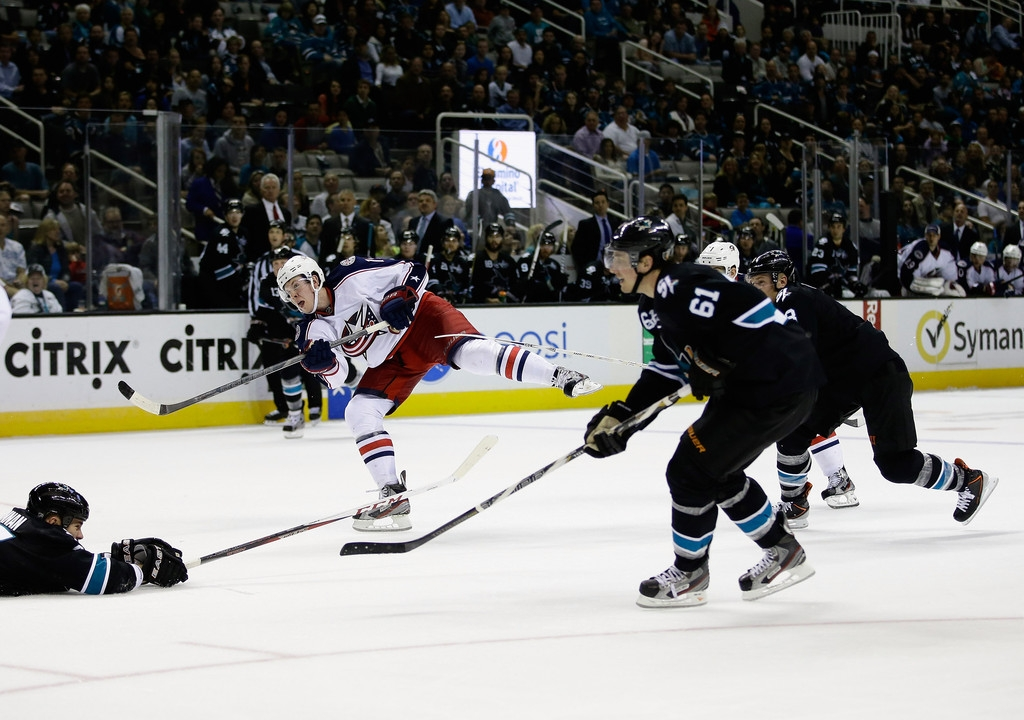 Columbus Blue Jackets v San Jose Sharks 41463