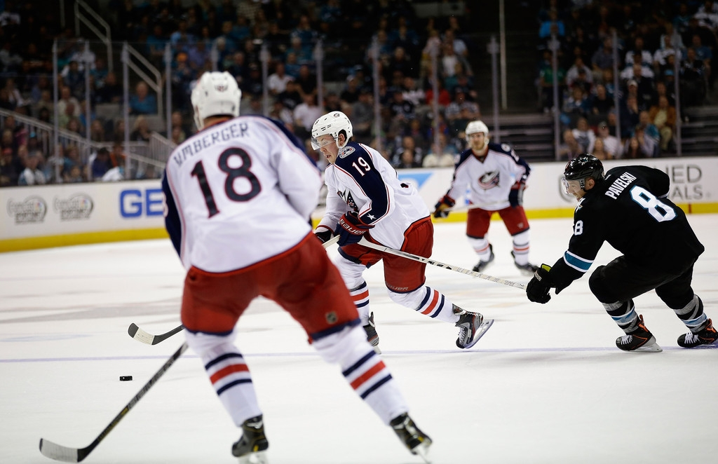 Columbus Blue Jackets v San Jose Sharks 41480