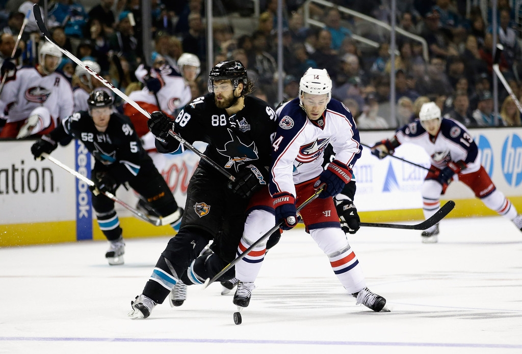 Columbus Blue Jackets v San Jose Sharks 41485