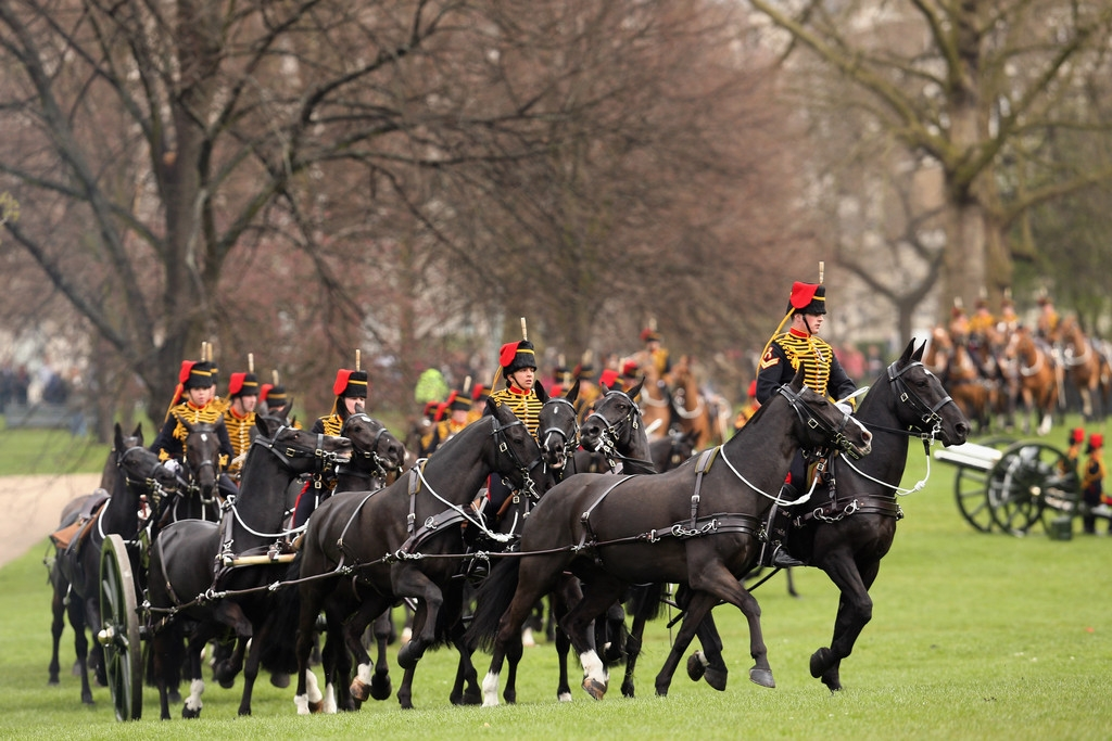 Gun Salute Marks the Queen's 87th Birthday 41888