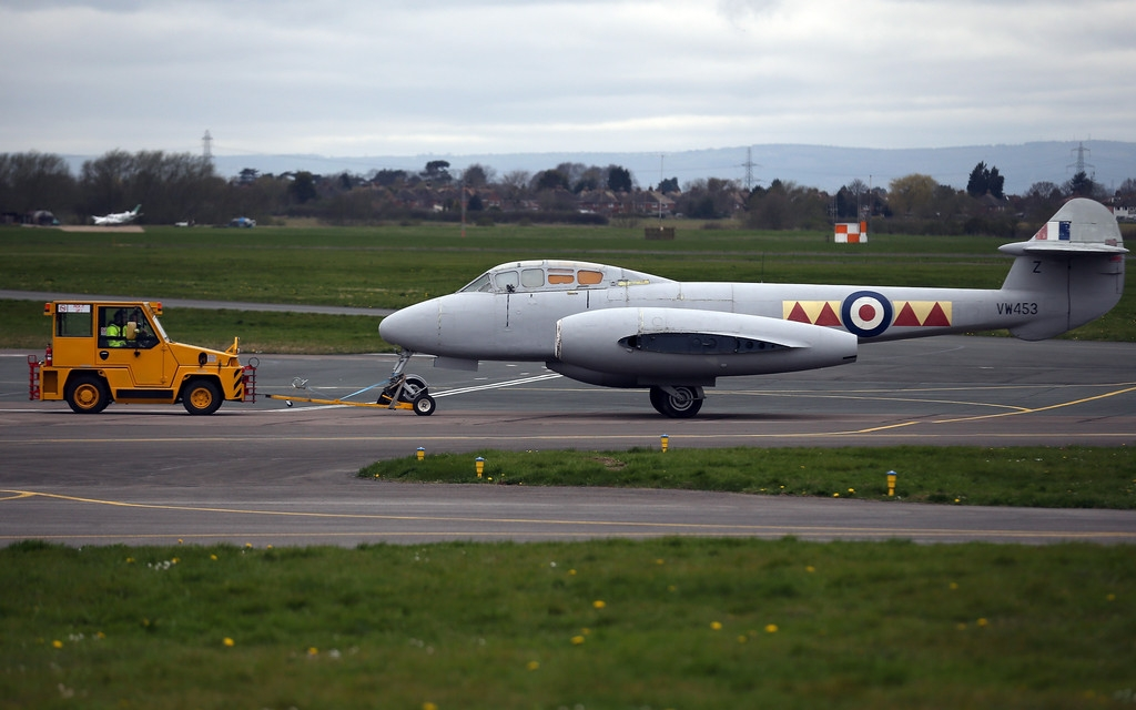 RAF Deliver Meteor Jet to the Jet Age Museum 42509
