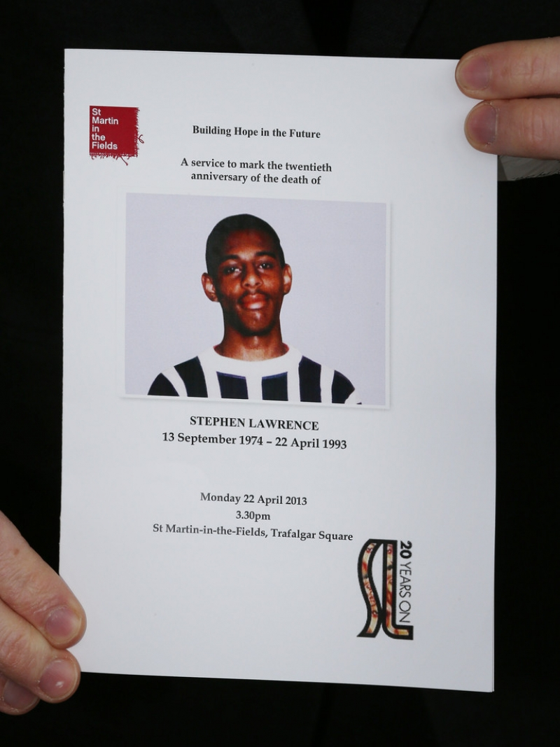 Memorial Anniversary Service for Stephen Lawrence 42616