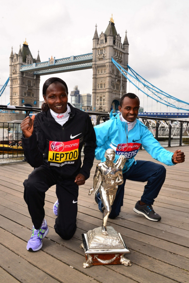 London Marathon Winners Photo Call 42953