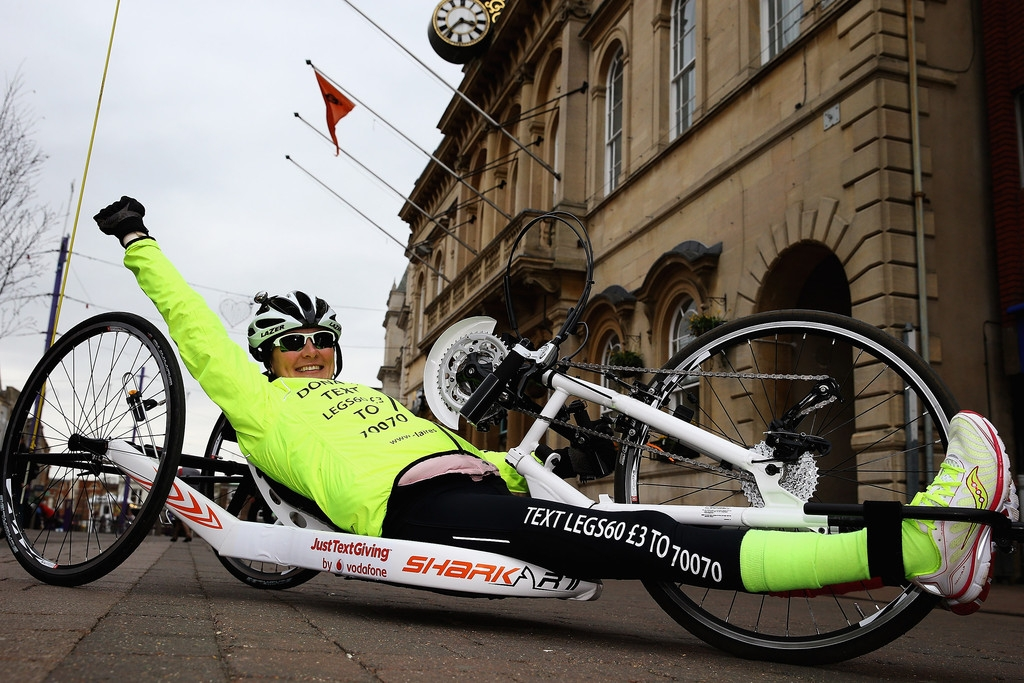 Claire Lomas Begins 400-mile Hand-cycle Challenge 42982