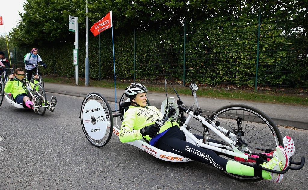 Claire Lomas Begins 400-mile Hand-cycle Challenge 42990