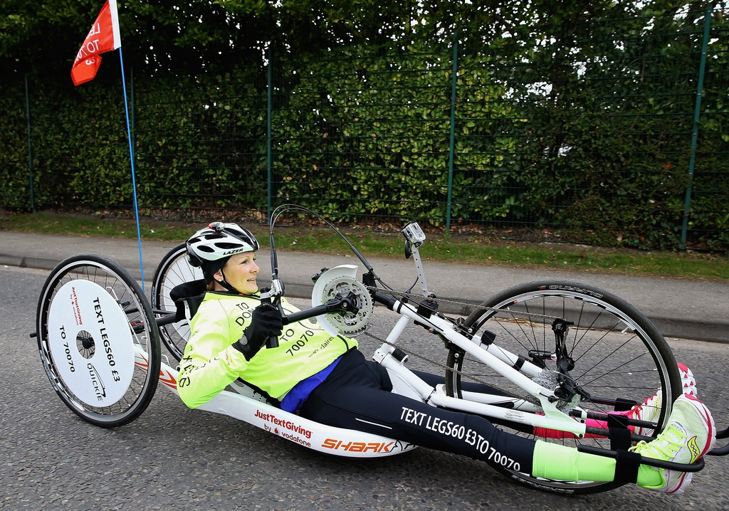 Claire Lomas Begins 400-mile Hand-cycle Challenge 42994