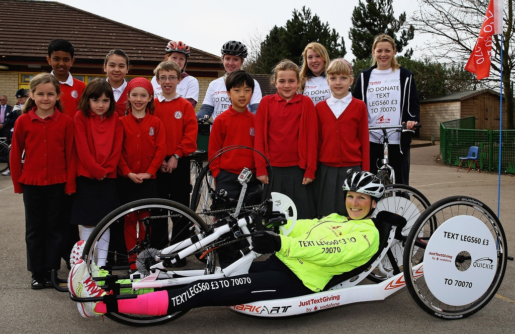 Claire Lomas Begins 400-mile Hand-cycle Challenge 43014