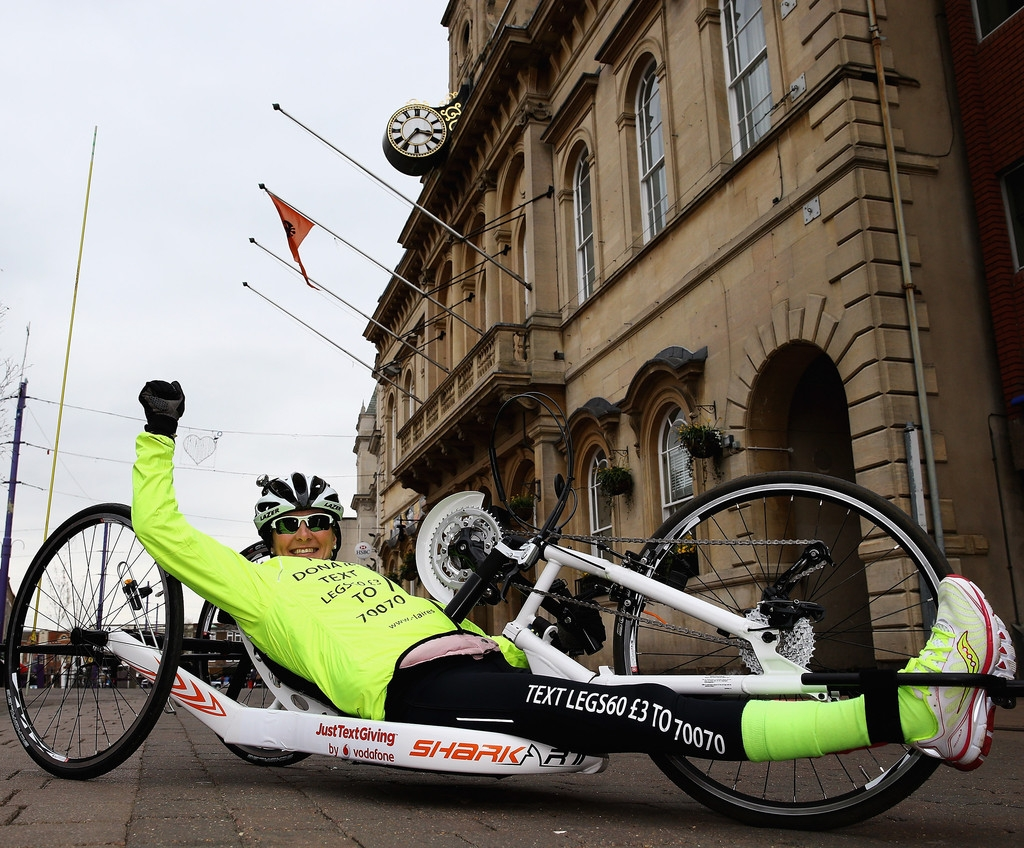 Claire Lomas Begins 400-mile Hand-cycle Challenge 43027
