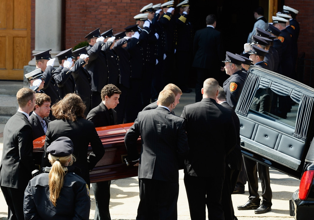 Funeral for Boston Marathon Bombing Victim 43099