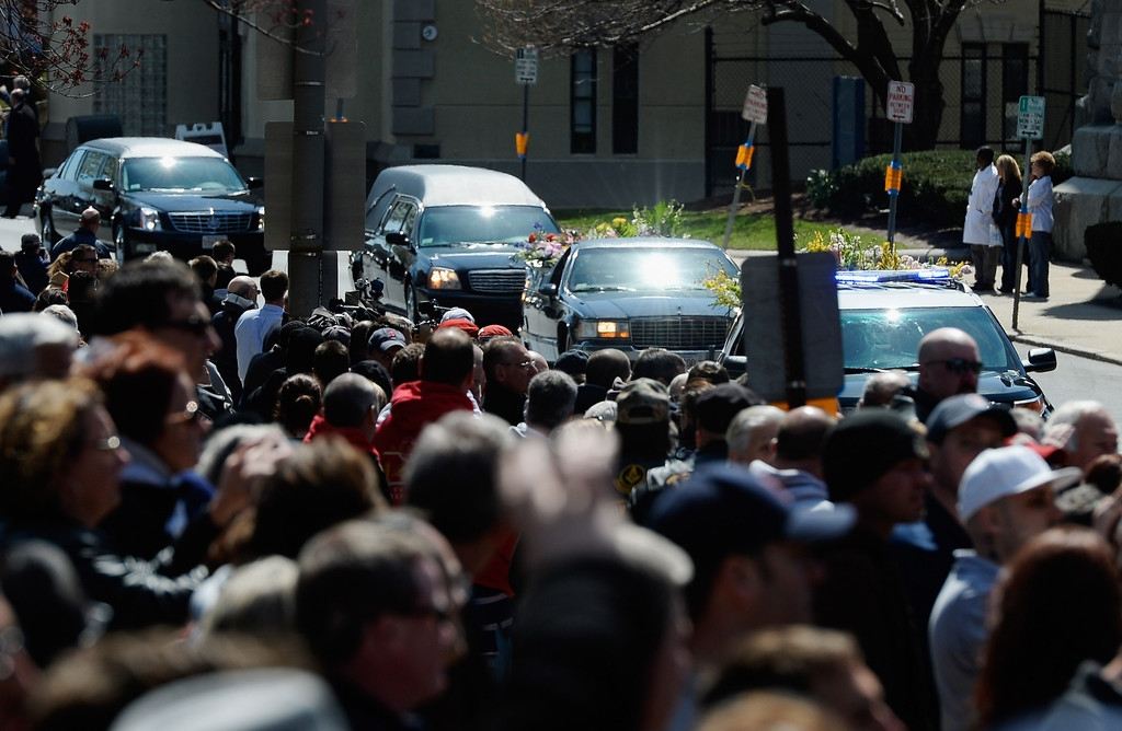 Funeral for Boston Marathon Bombing Victim 43101