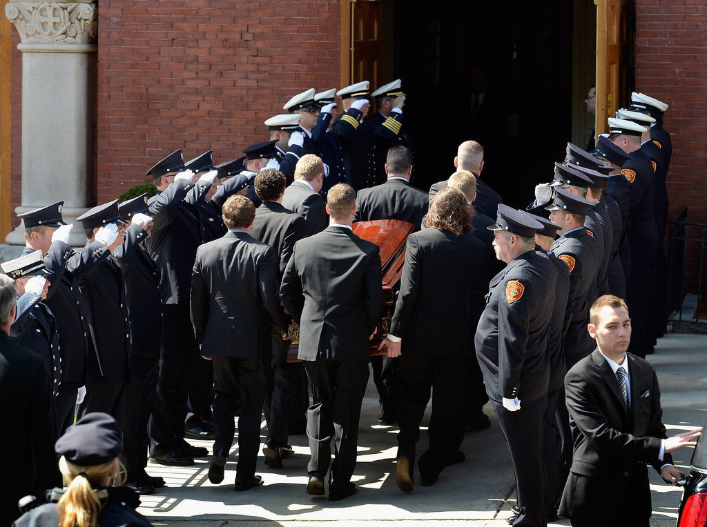 Funeral for Boston Marathon Bombing Victim 43111