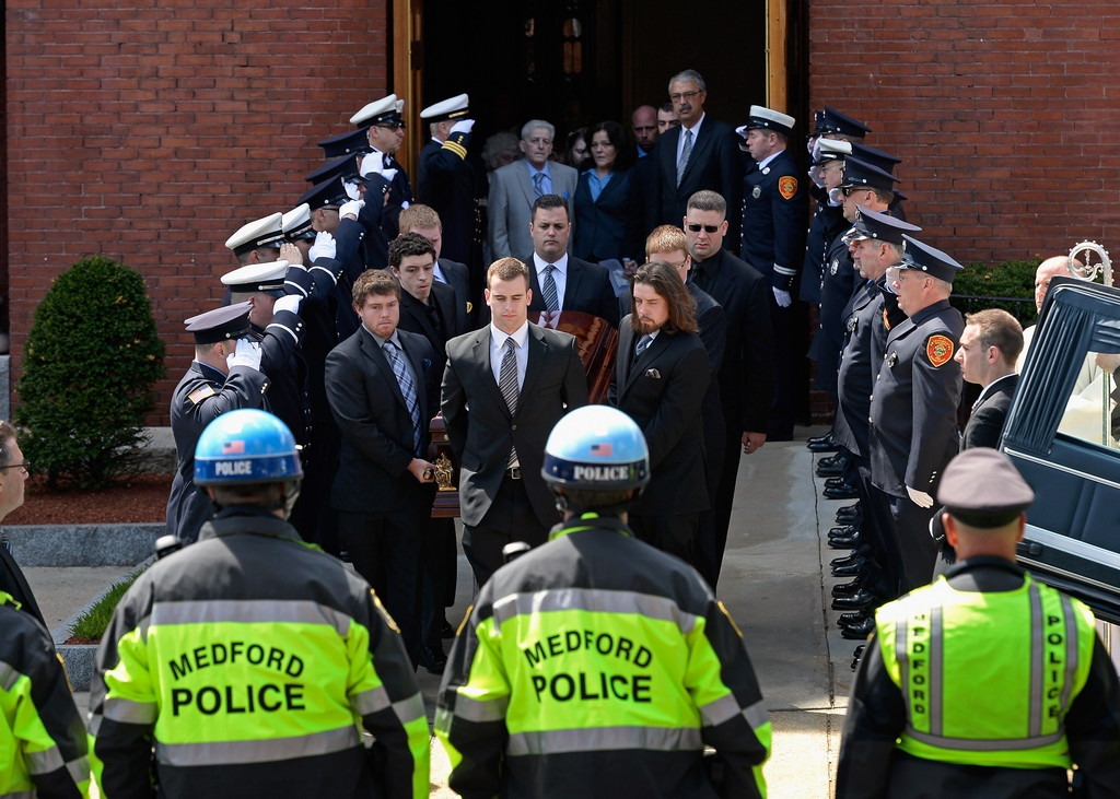 Funeral for Boston Marathon Bombing Victim 43171