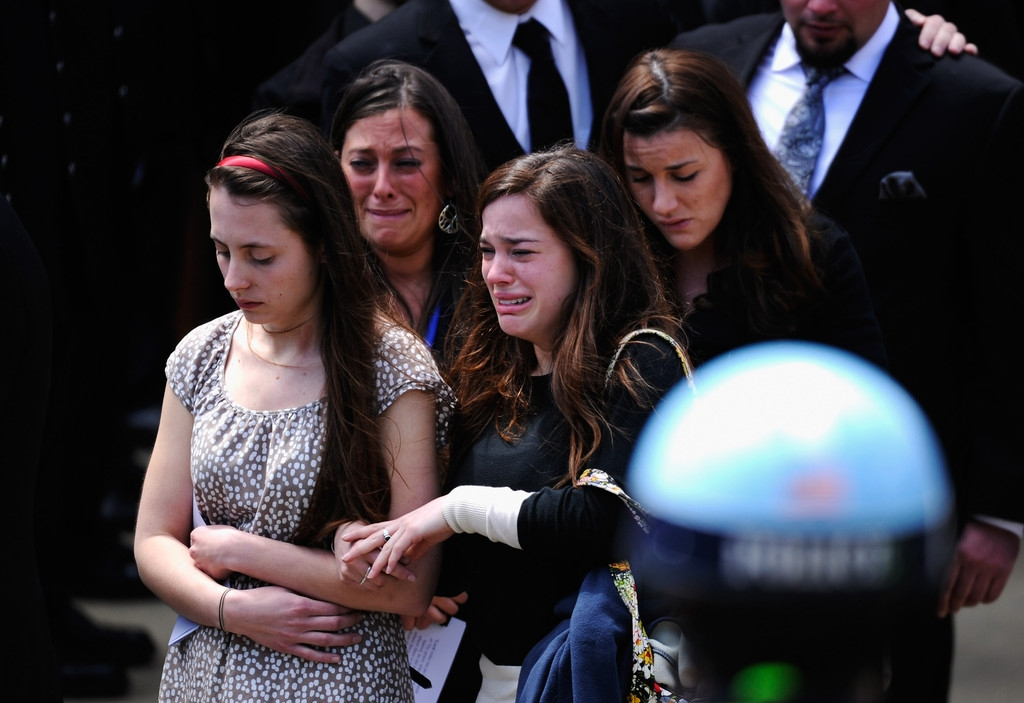 Funeral for Boston Marathon Bombing Victim 43196