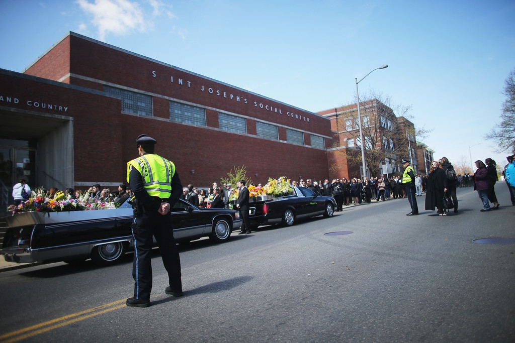Funeral for Boston Marathon Bombing Victim 43242