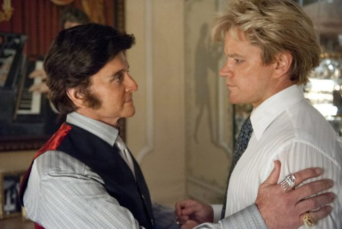 Behind candles with Michael Douglas as Liberace on HBO 43309