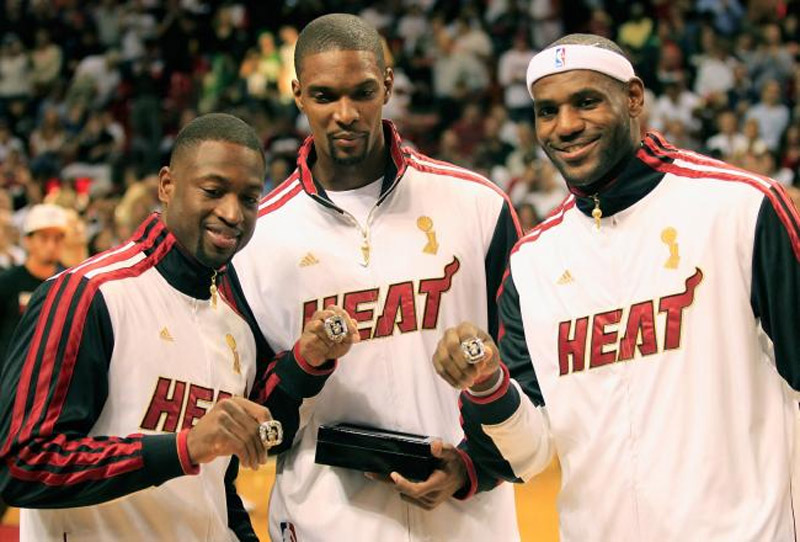 "Can the Miami Heat's Big 3 over the San Antonio Spurs dynasty ""Big 3 43349"