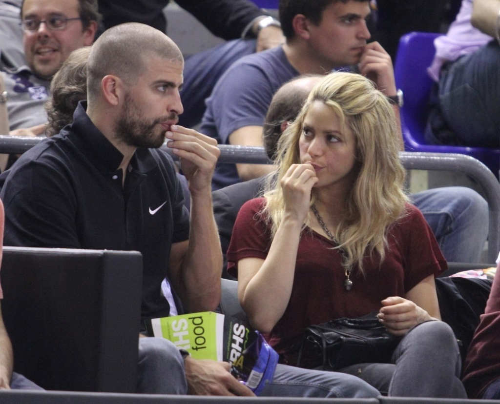 Shakira and Gerard Pique Watch a Game in Spain 44075