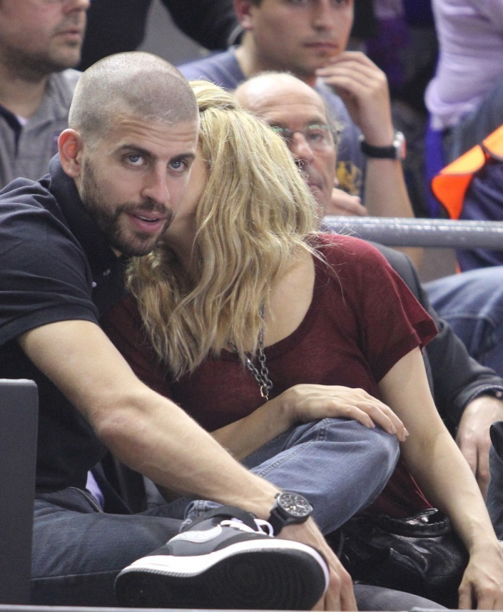 Shakira and Gerard Pique Watch a Game in Spain 44076