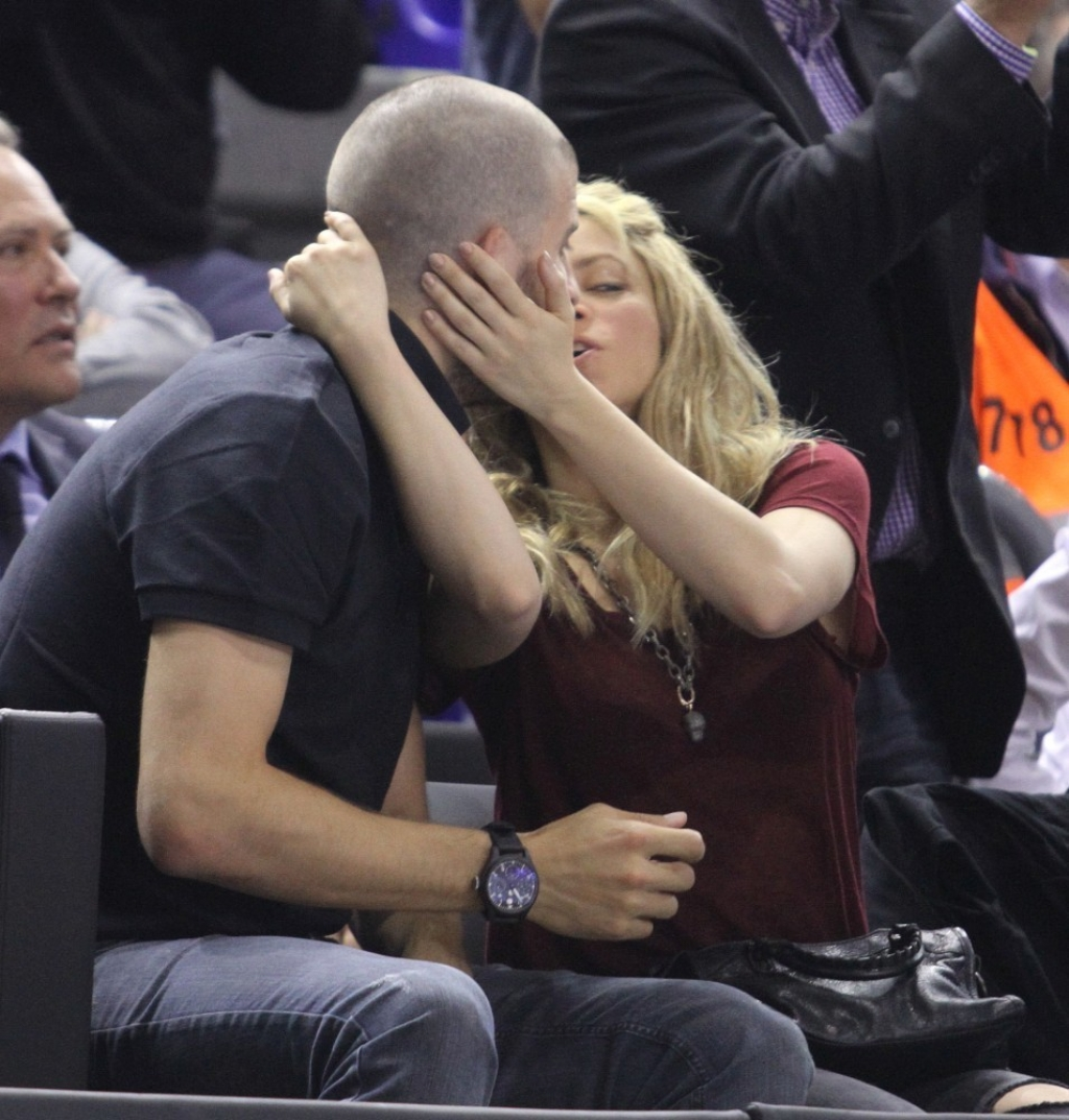 Shakira and Gerard Pique Watch a Game in Spain 44081