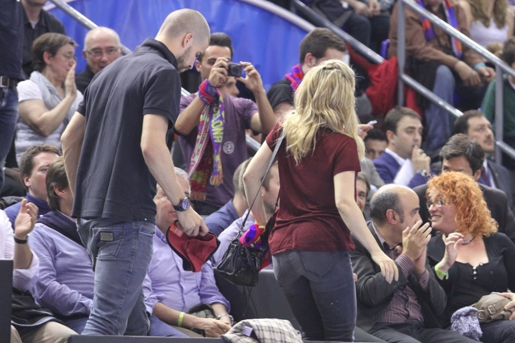 Shakira and Gerard Pique Watch a Game in Spain 44082