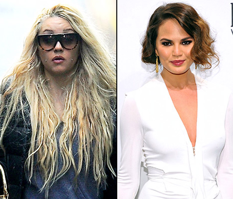 "Amanda Bynes, Chrissy Teigen Feud on Twitter: ""You're an Old, Ugly Model Compared to Me!"" 44281"