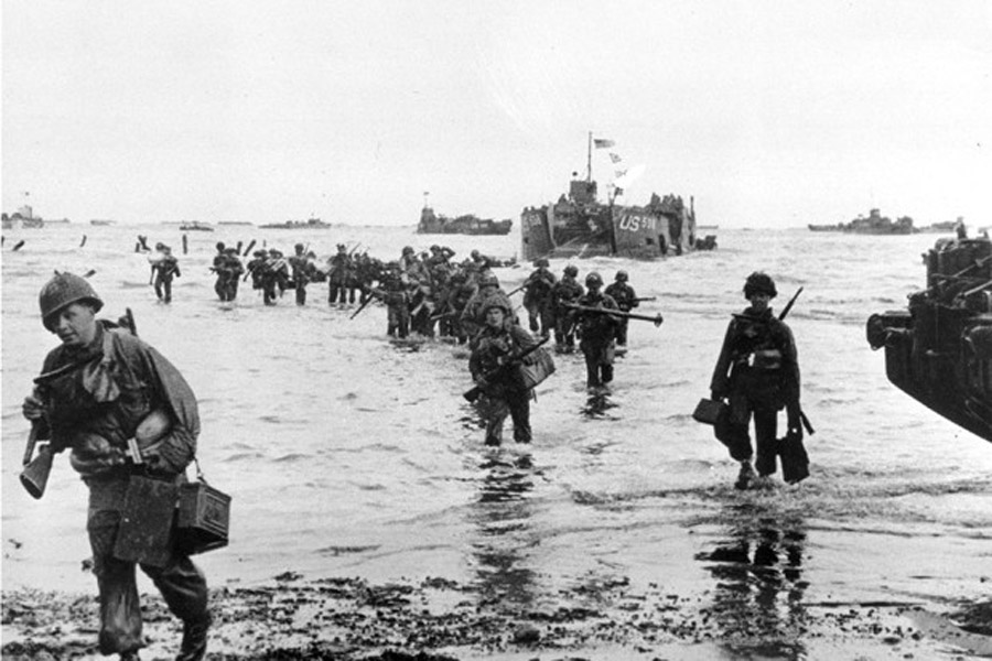 Press Past 69 Years Ago Today, the Allies Launched Massive Normandy Invasion on D-Day 44431