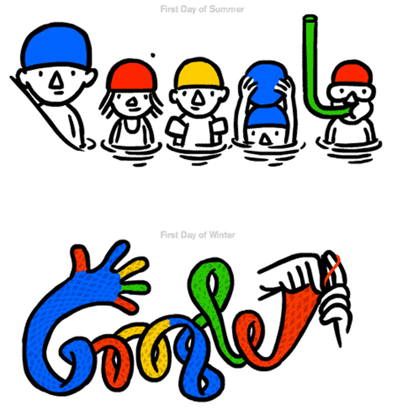 First day of summer 2013 (and winter): a Google Doodle salute 44570